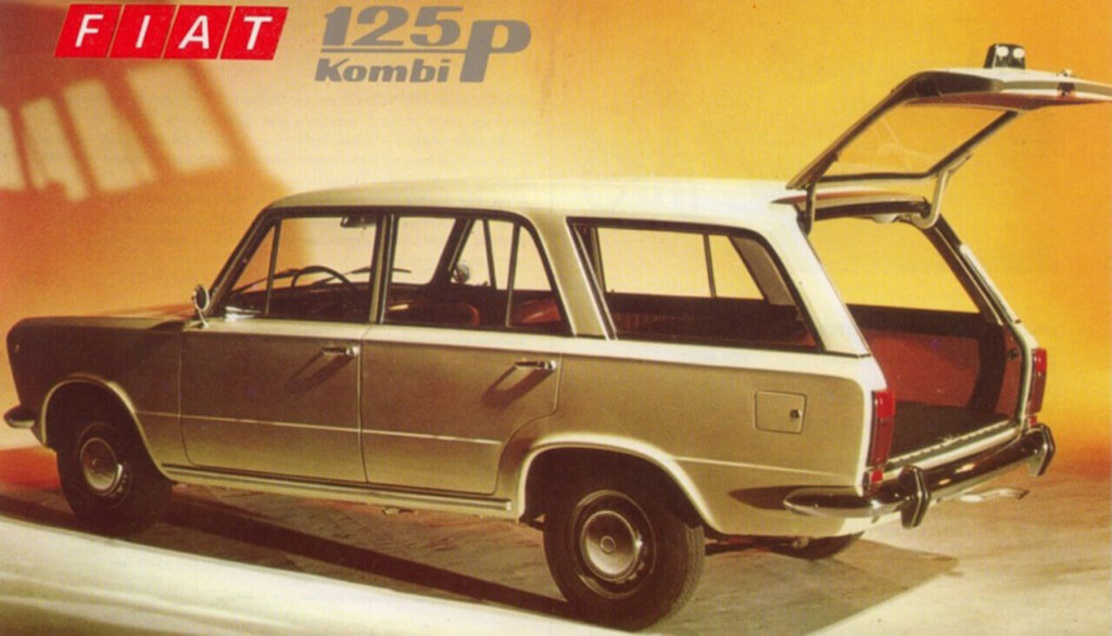 Polski Fiat 125p kombi z 1972 roku