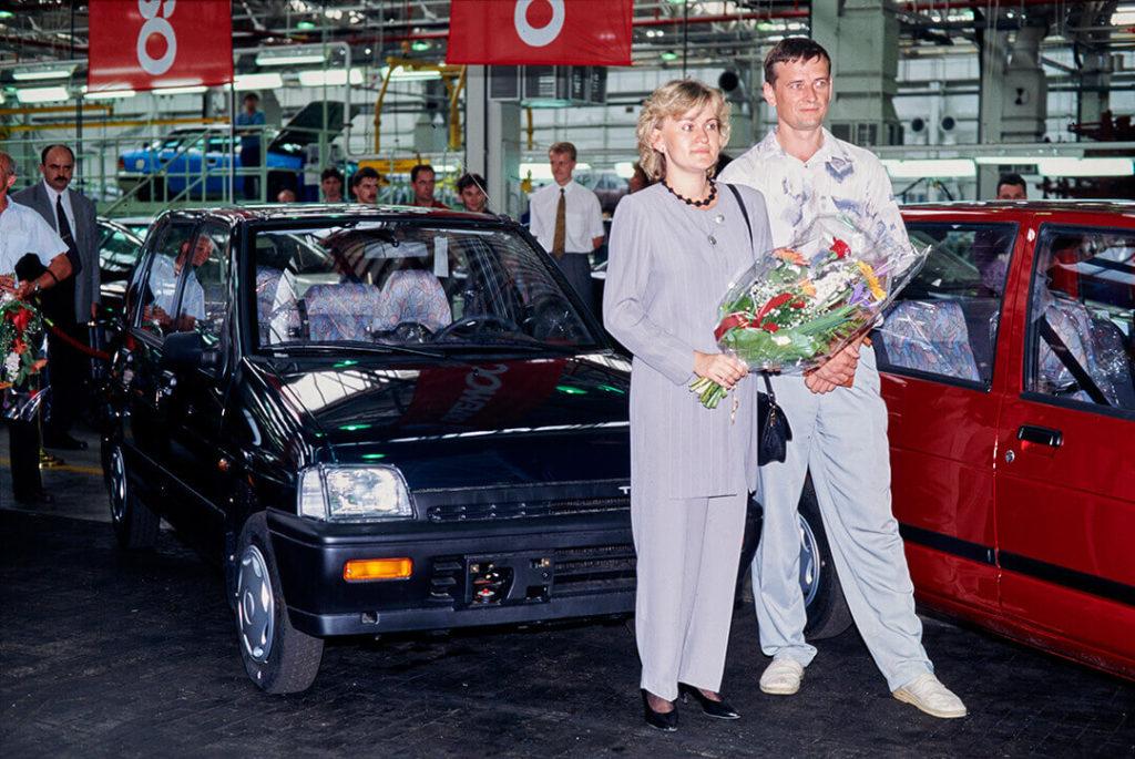 Inauguracja produkcji gdy uroczyście przekazano nowym właścicielom pierwsze zmontowane Tico w Polsce.