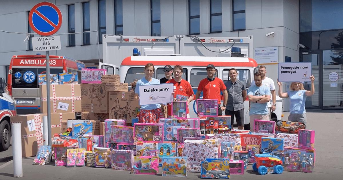 Pomagamy Mattel Poland w dostawie zabawek do Domu Fundacji Rolanda McDonalda