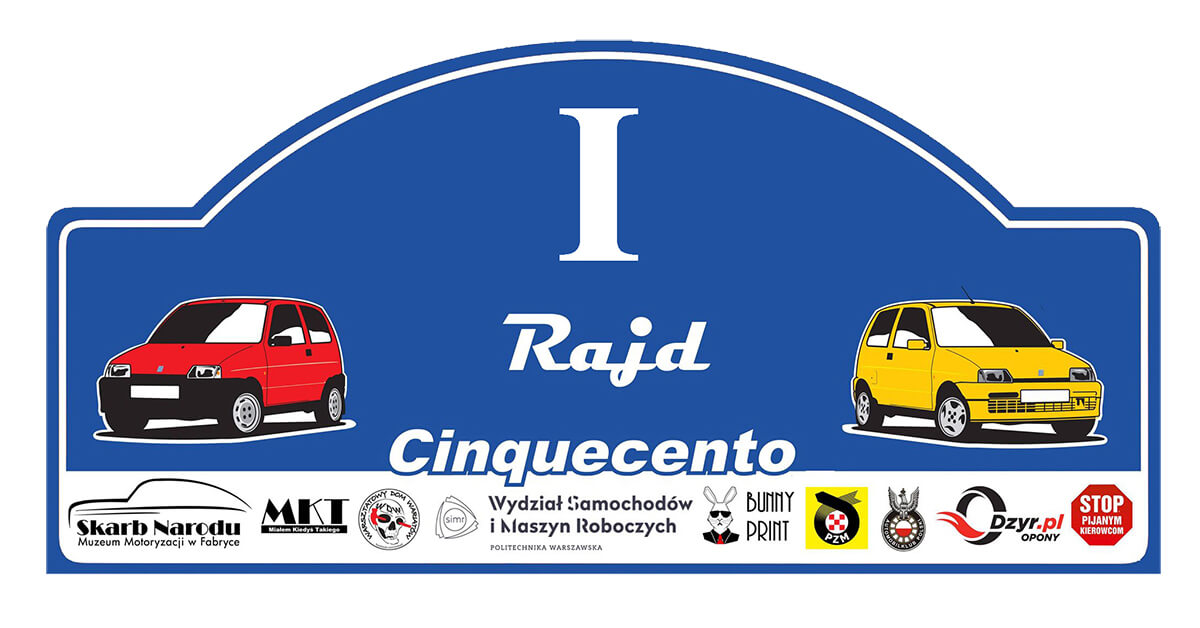 Read more about the article I Rajd Cinquecento 2021 – Wyniki i podsumowanie