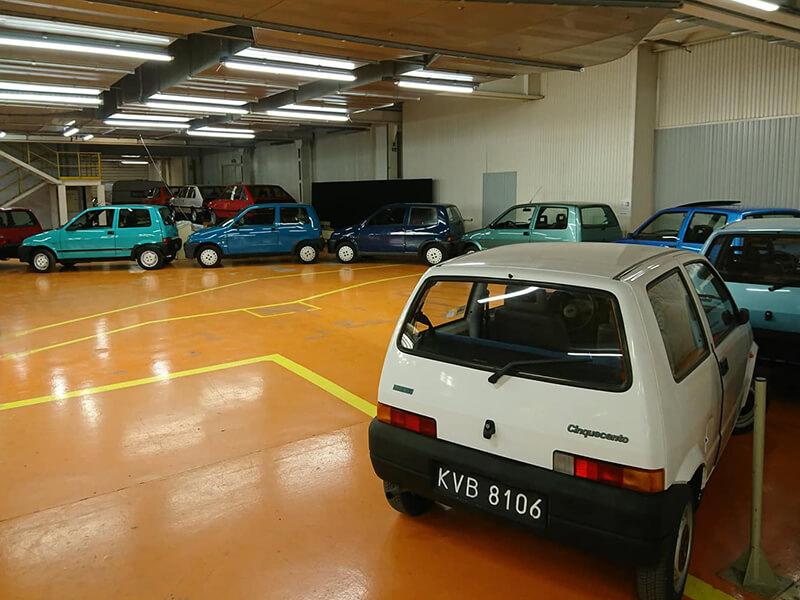 Ekspozycja Fiata Cinquecento na wystawie w Muzeum SKARB NARODU