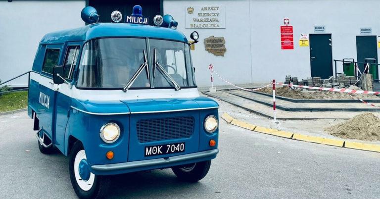 Milicja Nysa 522 - rodość z pierwszej jazdy po zakończonej renowacji