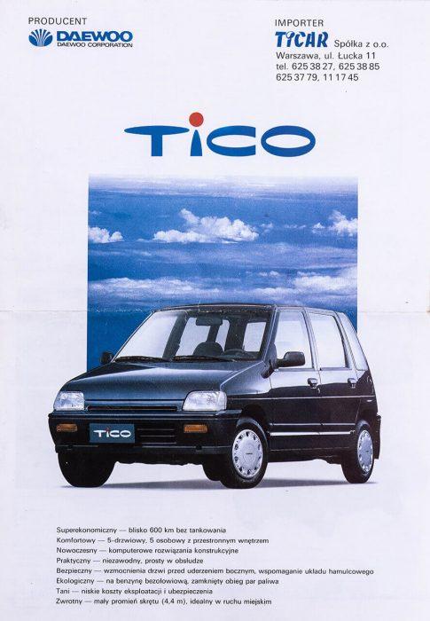 TICAR - folder Daewoo Tico